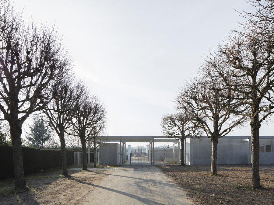 Aménagement de l'entrée du cimetière de Bléré - Arch. bianchimajer © Giorgio Marafioti