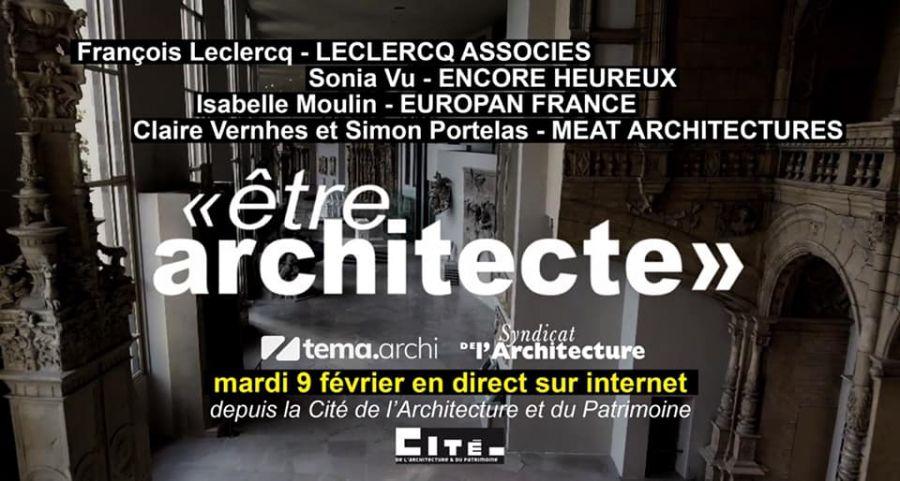 Les rendez-vous du Syndicat de l'architecture : Être architecte © Le Syndicat de l'architecture