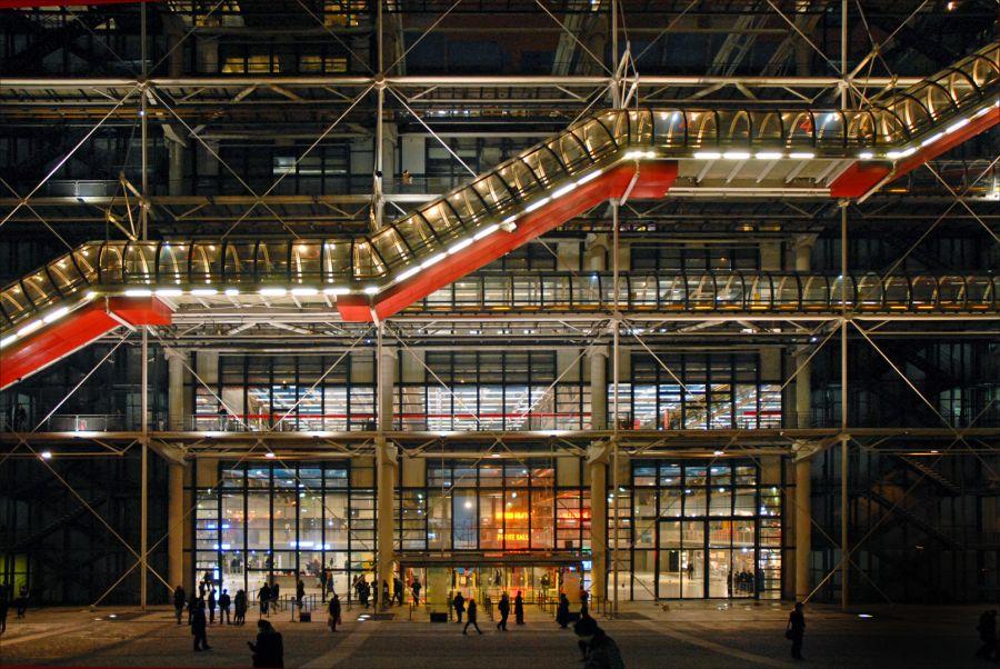 Entrée du Centre George Pompidou à Paris© Jean-Pierre Dalbéra (CC BY 2.0)