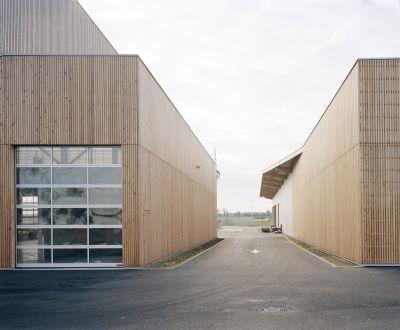 Centre de travaux routiers - Arch. RAUM - Photo : Audrey Cerdan