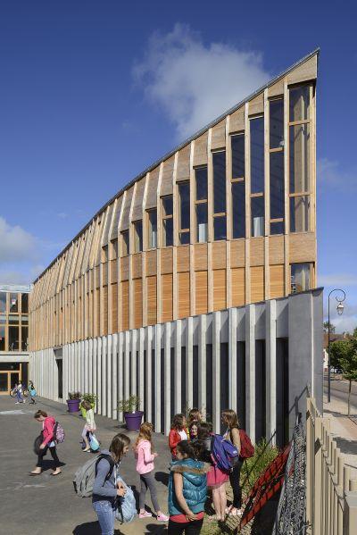 Restructuration et extension du collège François Pompon à Saulieu - Arch. Charles-Henri Tachon - Photo : Nicolas Waltefaugle