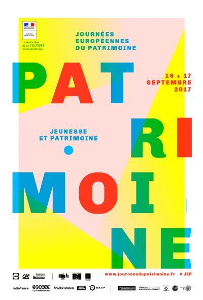 Affiche des 34ème Journées Européennes du Patrimoine © MC - Atelier 25