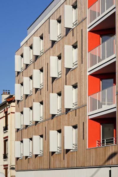 Immeuble de logements à Pantin - Arch. Benjamin Fleury Architecte-Urbaniste - Photo : David Boureau