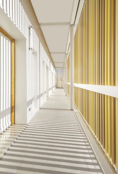 Résidence universitaire Lucien Cornil - Arch. : A+Architecture - Photo : Benoît Wehrlé