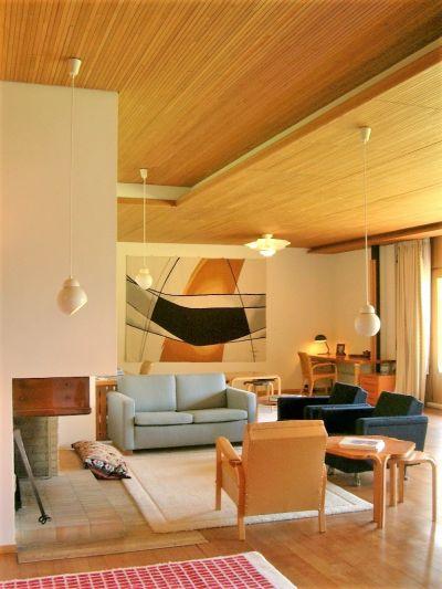 L'intérieur de la Maison Carré, Alvar AALTO, Bazoches-sur-Guyonne © CAUE 78