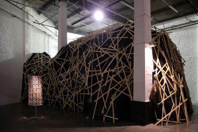 La Grotte, de Xavier Veilhan - Exposition Habitarium, à la Condition Publique - Photo : Maxime Dufour