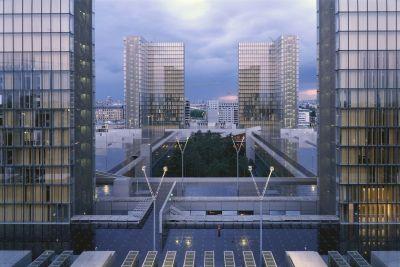 Vue extérieure, 1995 - ® Georges Fessy, Dominique Perrault Architecte, adagp