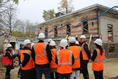 Visite du chantier du Musée de la Libération - Arch. Artene - Photo : CAUE 75