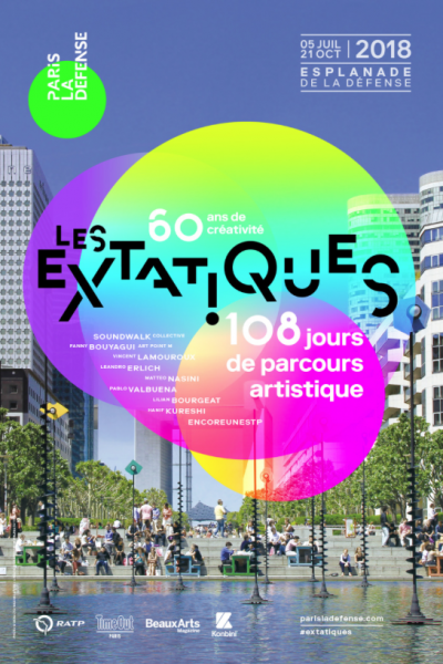 Les Extatiques - Paris La Défense, 2018 © Prototype