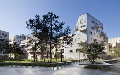 Le quartier du Trapèze, Louis PAILLARD architecte, Boulogne-Billancourt © Luc BOEGLY