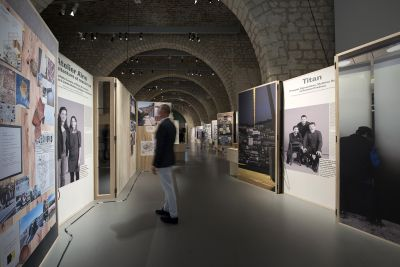 Vue de l'exposition des lauréats des Albums des jeunes architectes et paysagistes à la Cité de l'Architecture - Photo : D. Plowy