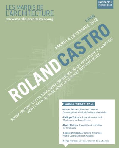 Les Mardis de l'architecture à l'Auditorium Unibail-Rodamco-Westfield, le 4 décembre 2018