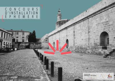 Concours d'installation éphémère organisé aux tours et remparts d'Aigues-Mortes - Crédit : CMN, Atelier Vecteur