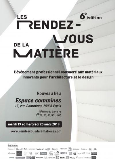 Affiche des Rendez-vous de la Matière qui auront lieu les 19 et 20 mars prochain - Photo : Les Rendez-vous de la Matière - Bookstorming