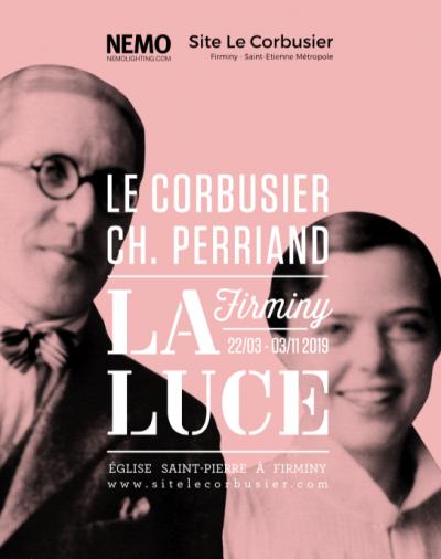 """Affiche de l'exposition """"La Luce"""" présentée à l'Église Saint-Pierre de Firminy - Image : Site Le Corbusier"""