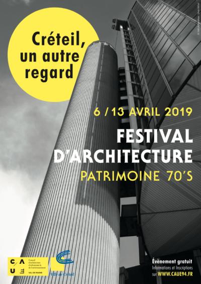 """Affiche du festival """"Créteil, un autre regard"""" - Image : CAUE94, Ville de Créteil"""