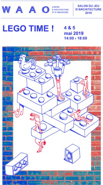 La brique Lego à l'honneur de la 7ème édition du salon du jeu d'architecture au WAAO - Image : WAAO