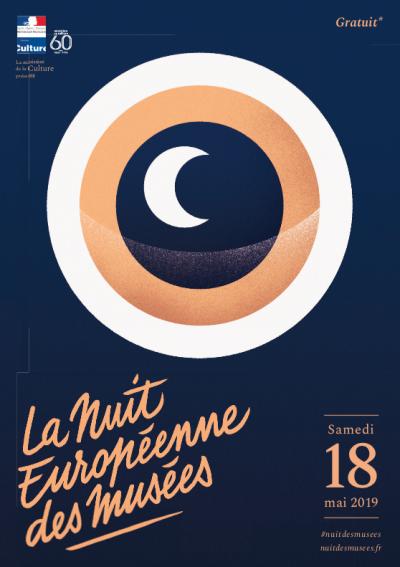 Affiche de la Nuit européenne des musées 2019 - Image : via nuitdesmusees.culture.gouv.fr