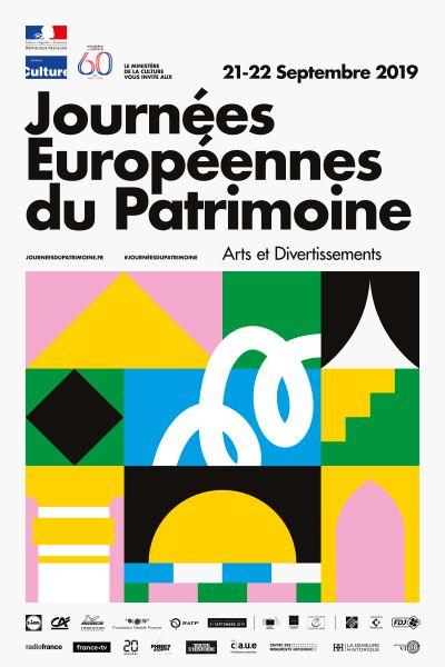 Affiche des Journées Européennes du Patrimoine 2019 © Ministère de la Culture