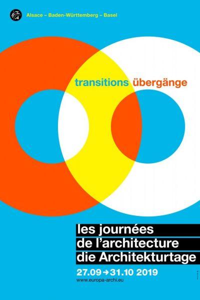 Affiche des Journées de l'Architecture, 19ème édition © Maison Européenne de l'architecture - Rhin Supérieur
