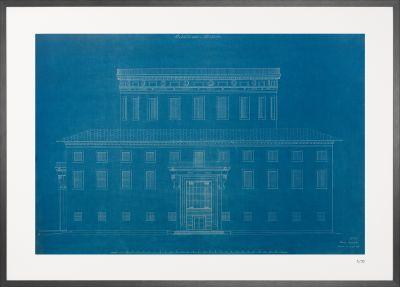 Fasad Stadsbiblioteket - Arch. Erik Gunnar Asplund © Desplans