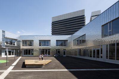 Groupe scolaire Miriam Makeba - Arch. toa architectes associés - Photo : Frédéric Delangle