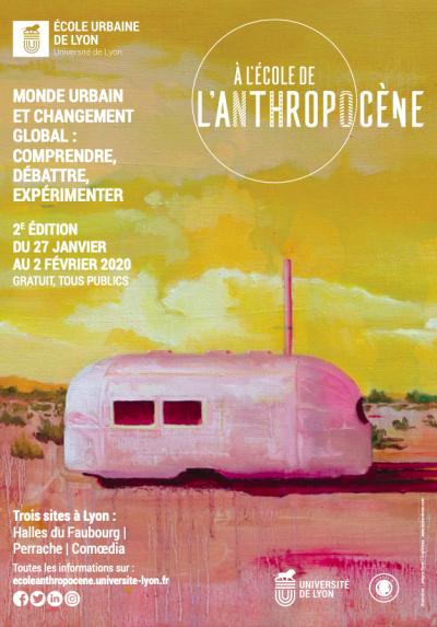 Affiche À l'école de l'anthropocène © École Urbaine de Lyon