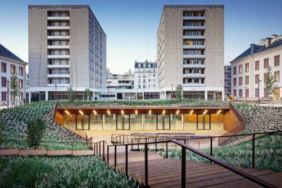 Université de droit Paris I, restructuration de la caserne Lourcine - Arch. Chartier Dalix © Sergio Grazia