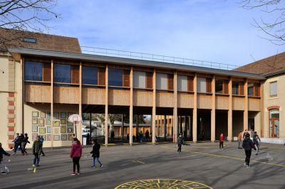 Extension groupe scolaire Grand-Lemps - Arch.Brenas Doucerain Architectes © Studio Erick Saillet