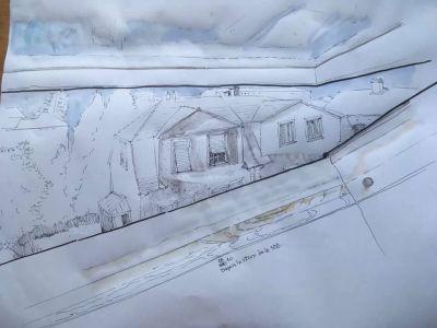 L'architecte Alexandre Da Silva invite à dessiner ce que vous voyez depuis votre fenêtre © Alexandre Da Silva via Facebook