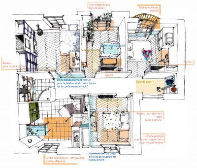 L'appartement d'Anaïs Lecerf © Anaïs Lecerf