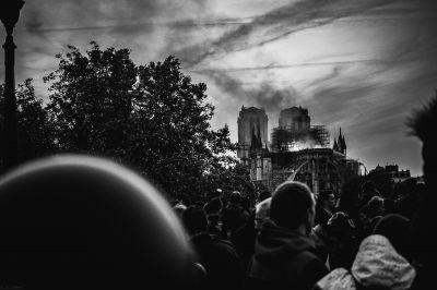 Notre-Dame de Paris, 15 avril 2019 © achilebird (CC BY-NC-ND 2.0)