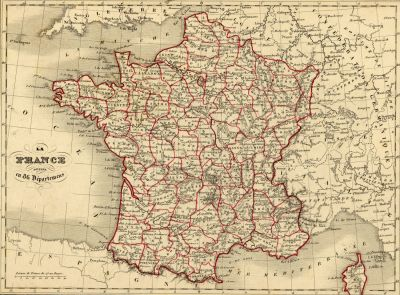 Carte de France de 1843 © Alexandre Vuillemin
