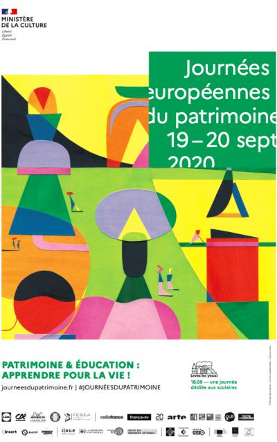 Affiche des Journées Européennes du Patrimoine 2020 © Ministère de la Culture
