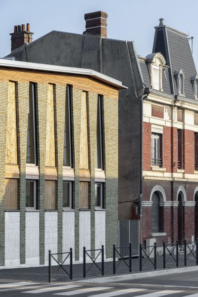 Pôle éducatif Val de Scarpe - Arch.Boris Bouchet architectes et Guillaume Ramillien architecture © Benoit Alazard etPascal Amoyel