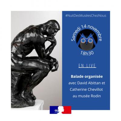 Balade organisée en direct du Musée Rodin pour la #NuitDesMuséesChezNous - Via le compte Instagram @culture_gouv