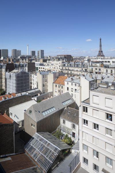 Deux maisons à Paris 15e - Arch. Collectif d'architectes SML + NEXT © Hervé Abbadie