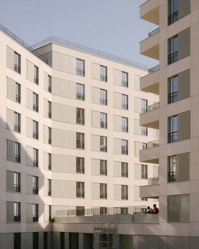 Opération de logements Rouget de Lisle  - Arch. THE architectes © Maxime Verret
