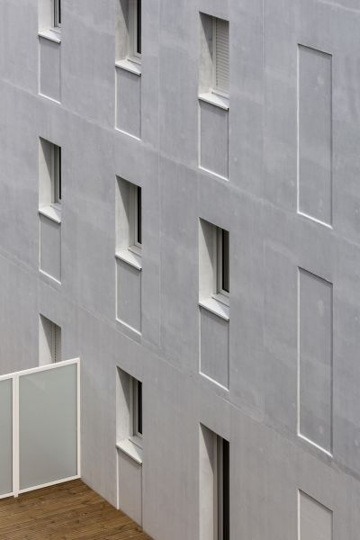 24 logements collectifs sur l'Île de Nantes - Arch. Parc architectes © Thomas Lang