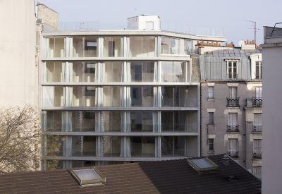 20 logements collectifs à Paris 20e - Arch. REMINGTONSTYLE © Clément Guillaume