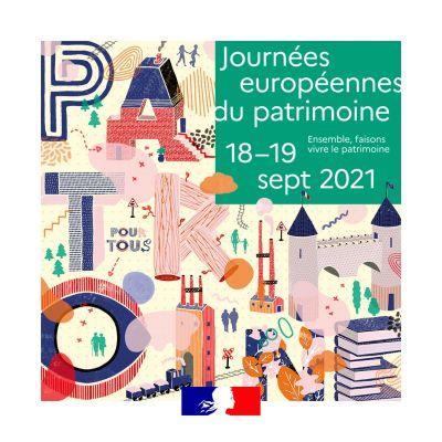 Les journées européennes du patrimoine - 18 et 19 septembre 2021 © DR, matériel presse